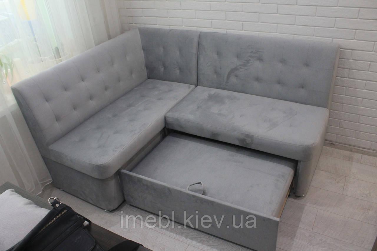 Кухонний диван зі спальним місцем (Сірий)