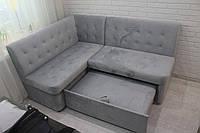 Кухонний диван зі спальним місцем (Сірий), фото 1