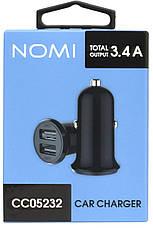 Автомобильное зарядное устройство Nomi CC05232 2 порта 3.4А Черный, фото 3