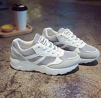 Модные кроссовки для девушек серые дешевые, фото 1