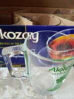 Набор чашек ТМ Алокозай из термостойкого стекла 350 мл*6 шт