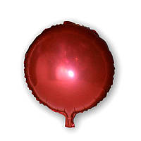 Фольгированный шар - Круг красный, 45х45см. Воздушные шарики оптом.