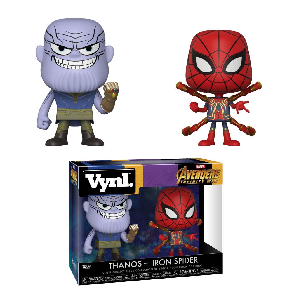 Набор фигурок Спайдермен Железный Человек Паук и Танос Funko POP