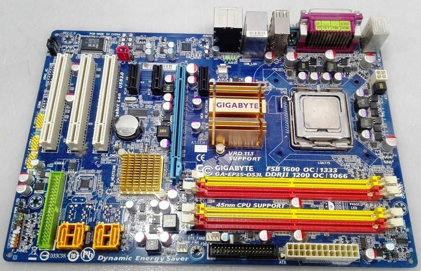 Материнская плата GIGABYTE GA-EP35-DS3L LGA775, Intel P35, DDR2