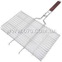 Решетка для гриля двойная GRILL ME BQ-022 (44х25см), хромированная