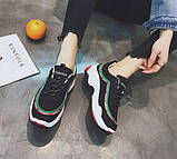 Женские черные кроссовки на водонепроницаемой подошве, фото 4