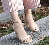 Модные женские  босоножки на толстом каблуке, фото 2