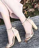 Модные женские  босоножки на толстом каблуке, фото 3