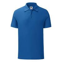 Мужская футболка поло Iconic Polo Fruit of the Loom ярко-синий