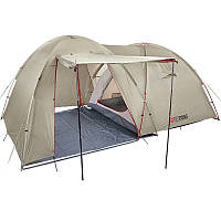 Палатка туристическая четырехместная Red Point Base 4 (400х250х190см), серая