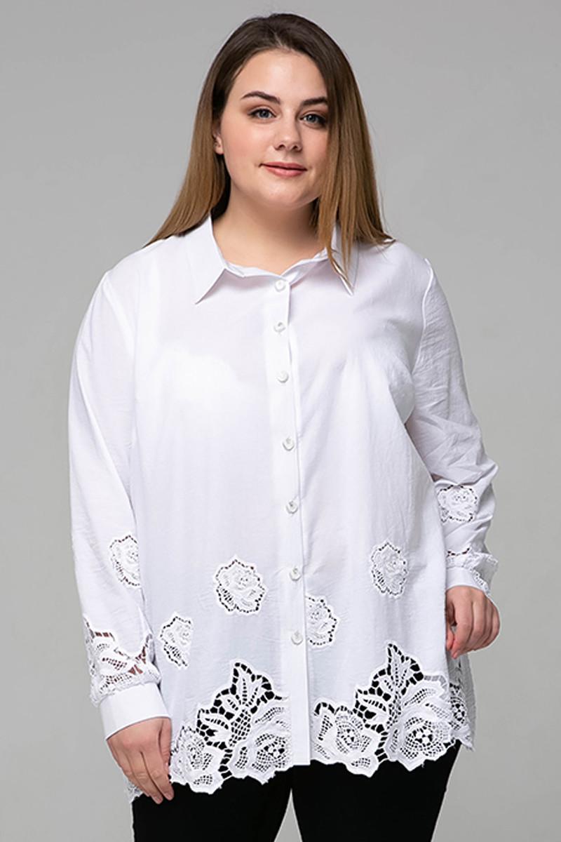 8e6684cc1fc Красивая блузка с прошвой для полных Тата - V Mode