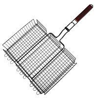 Решетка-гриль КЕМПИНГ BQ-68 (40х31х7см), с антипригарным покрытием