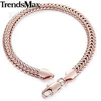 Розовое золото браслет для женщин мужчин из медицинского сплава, унисек, ажурный