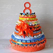 """Торт в детский сад из сока и конфет """"Барни"""" (для мальчика), фото 3"""