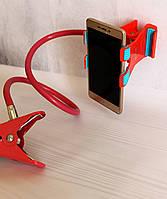 """Держатель (усиленный) для смартфона с вращающейся 360"""" съемной головкой. Розовый"""