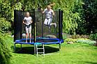 Батут FunFit 252 см для дітей і дорослих з захисною сіткою і драбиною, фото 5