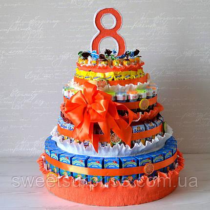 """Торт в школу из сока и конфет """"Апельсин"""", фото 2"""