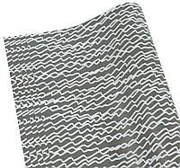 Бумага для упаковки подарков( чёрно-белые волны, 10листов)