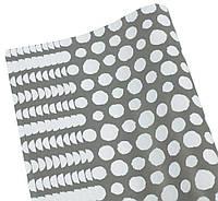 Бумага для упаковки подарков( чёрно-белые пятна, 10листов)