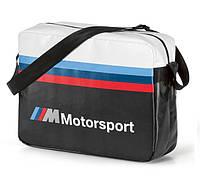 Городская сумка BMW M Motorsport Messenger Bag, Black/White (80222461144)