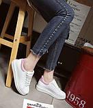 Дешевые женские кроссовки с розовым задником и надписью, фото 7
