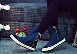 Высокие синие кроссовки с молниями, фото 4