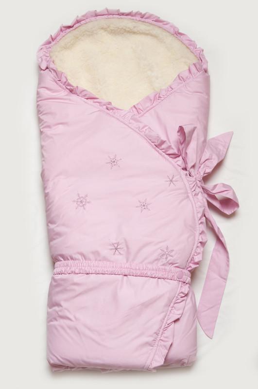 """Зимний конверт-одеяло """"Сказка"""" розовый"""