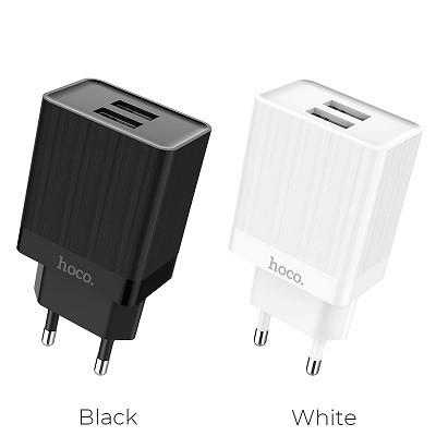 Сетевое зарядное устройство Original Hoco C51A  (EU) 2USB 3.4A