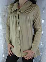 Рубашка женская D 8016 горчица