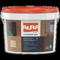AURA Color Wood Aqua палисандр Лазурь лак алкидный Аура Колор Вуд Аква для древесины 9л