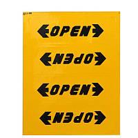 Светоотражающая наклейка - OPEN - желтые, фото 1
