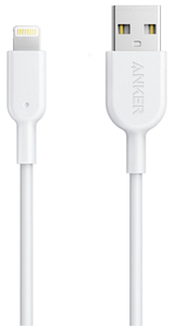 Кабель ANKER Powerline II Lightning - 0.9 м V2 (White)