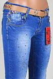 Женские джинсы со стразами, фото 2