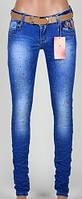 Женские джинсы со стразами