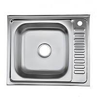 Накладная мойка Platinum 6050 декор 0,7 мм