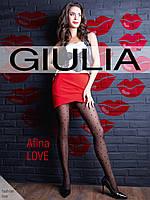 """Колготки с узором """"сердечки"""" GIULIA Afina LOVE 40 model 2"""