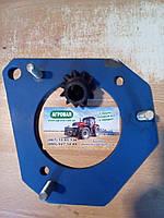 Переходная плита с шестерней бендикса для переоборудования трактора МТЗ 80 с пускача ПД-10 на стартер, фото 1