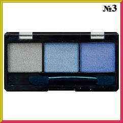Тени Qianyu MS 6103 Белые, Голубые, Синие Трехцветные Матовые и Атласные Тон 03