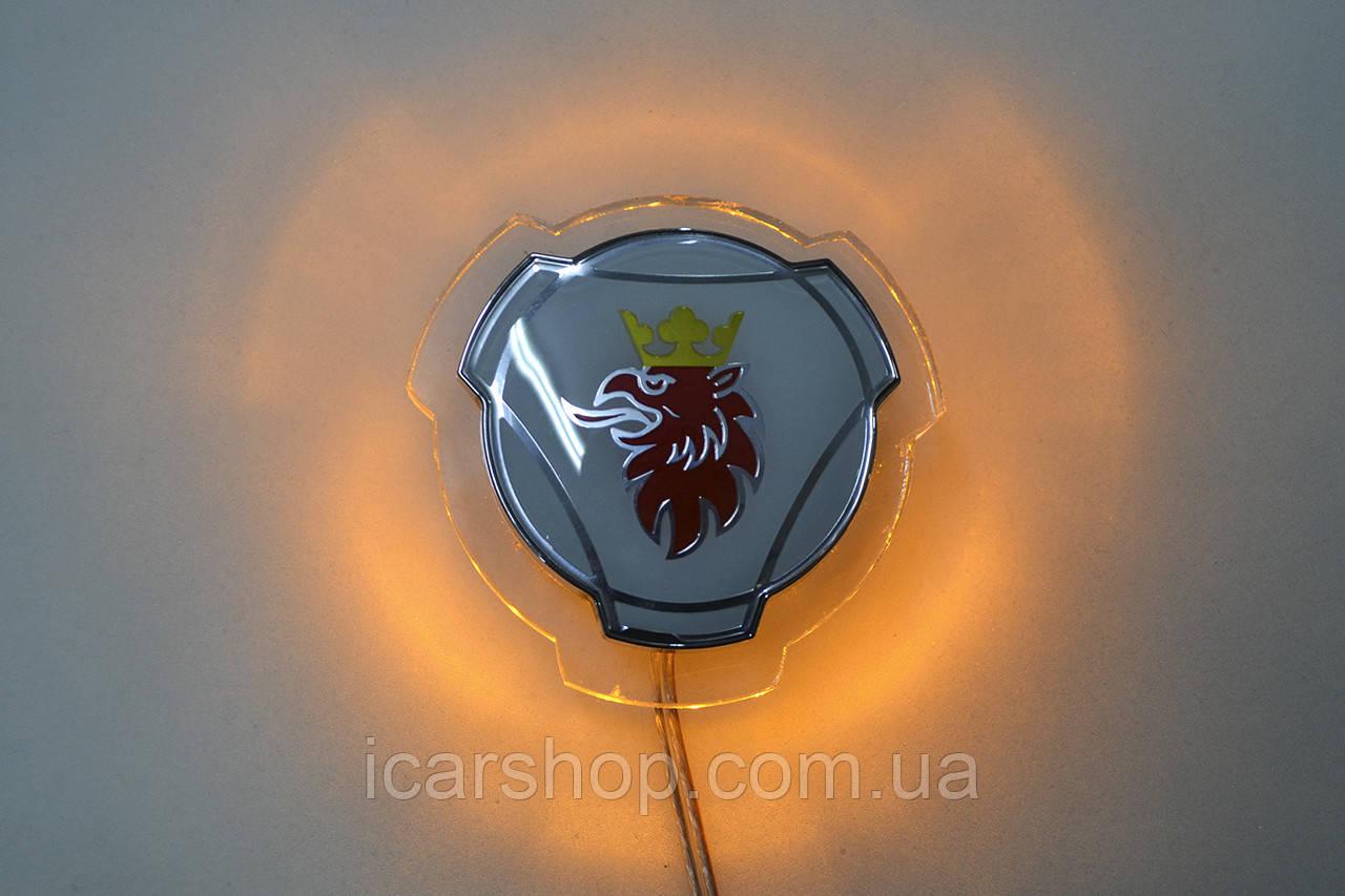 Декоративная лампа / желтая