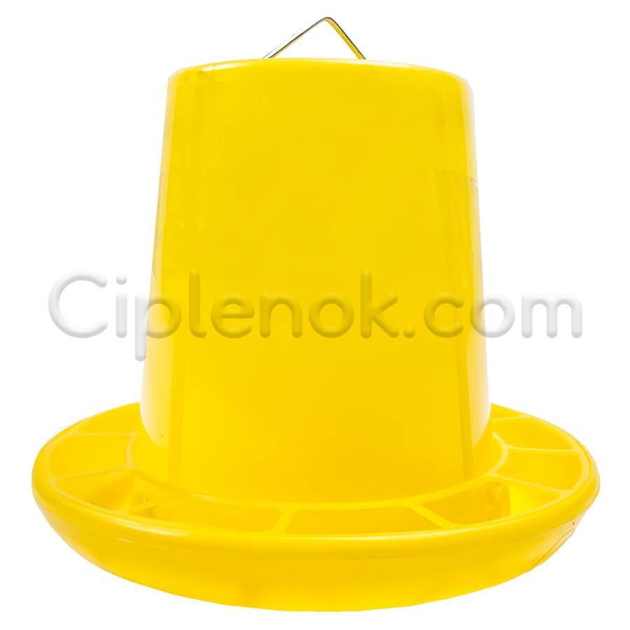 Бункерная кормушка 3,7 л / 2,6 кг с ручкой желт.