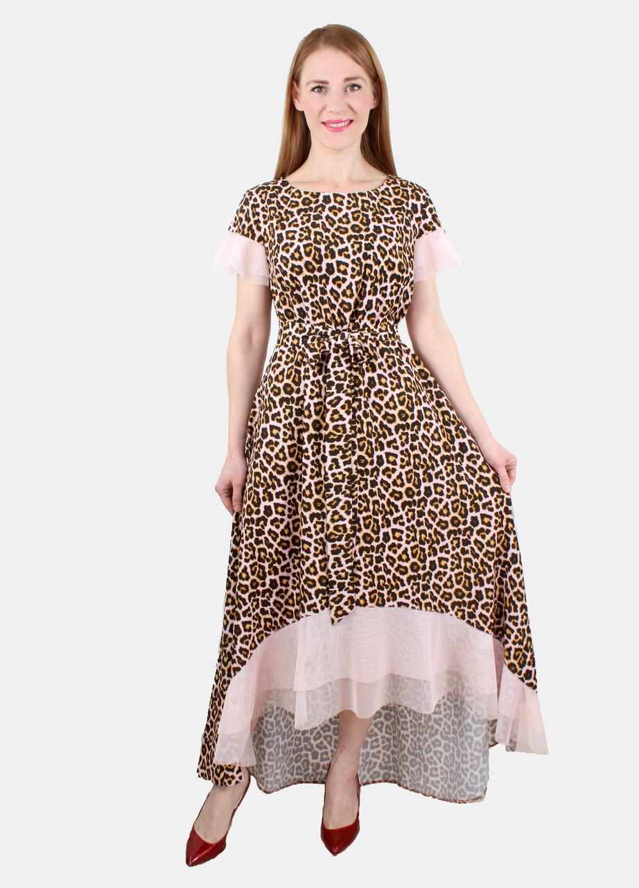 43a162be7df Леопардовое стильное платье 44-50 р - Оптовый интернет-магазин по продаже  женской одежды