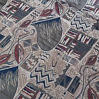 Гобелен Баракан с абстрактным рисунком бежево-серого цвета, ширина 150 см, фото 1