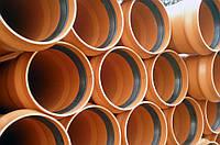 Труба ПВХ для наружной канализации  ф 110х 2,7 SN 4 (тип средний) (длинна 1,2,3,4,6 м)