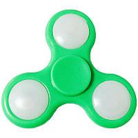 Спиннер светодиодный (75х75х6мм), зеленый