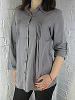 Рубашка женская D 8011 серая