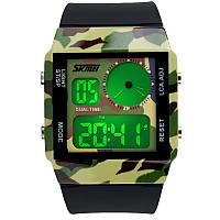 Часы Skmei 0841, камуфляжные, в металлическом боксе