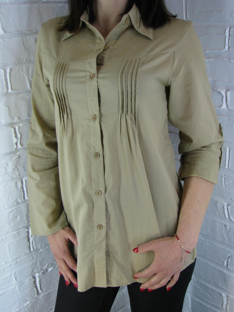 Рубашка женская D 8011 горчица