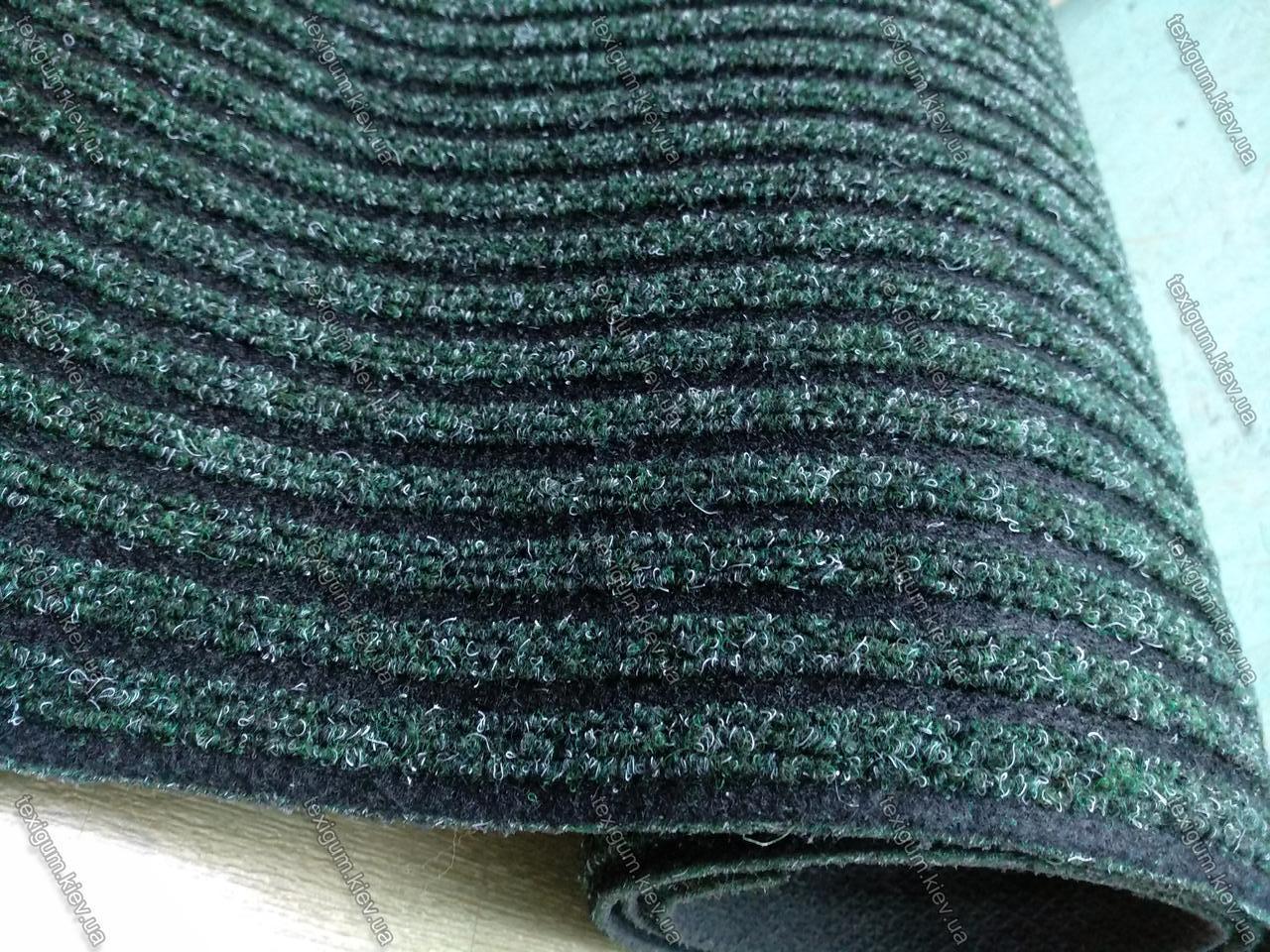 Грязезащитная дорожка на резиновой основе Рубчик-9 темно-зеленая