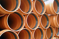 Труба ПВХ для наружной канализации  ф 110х 3,2 SN 8 (тип тяжелый) (длинна 1,2,3,4,6 м)