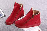 Красные высокие кроссовки с молниям женские, фото 3